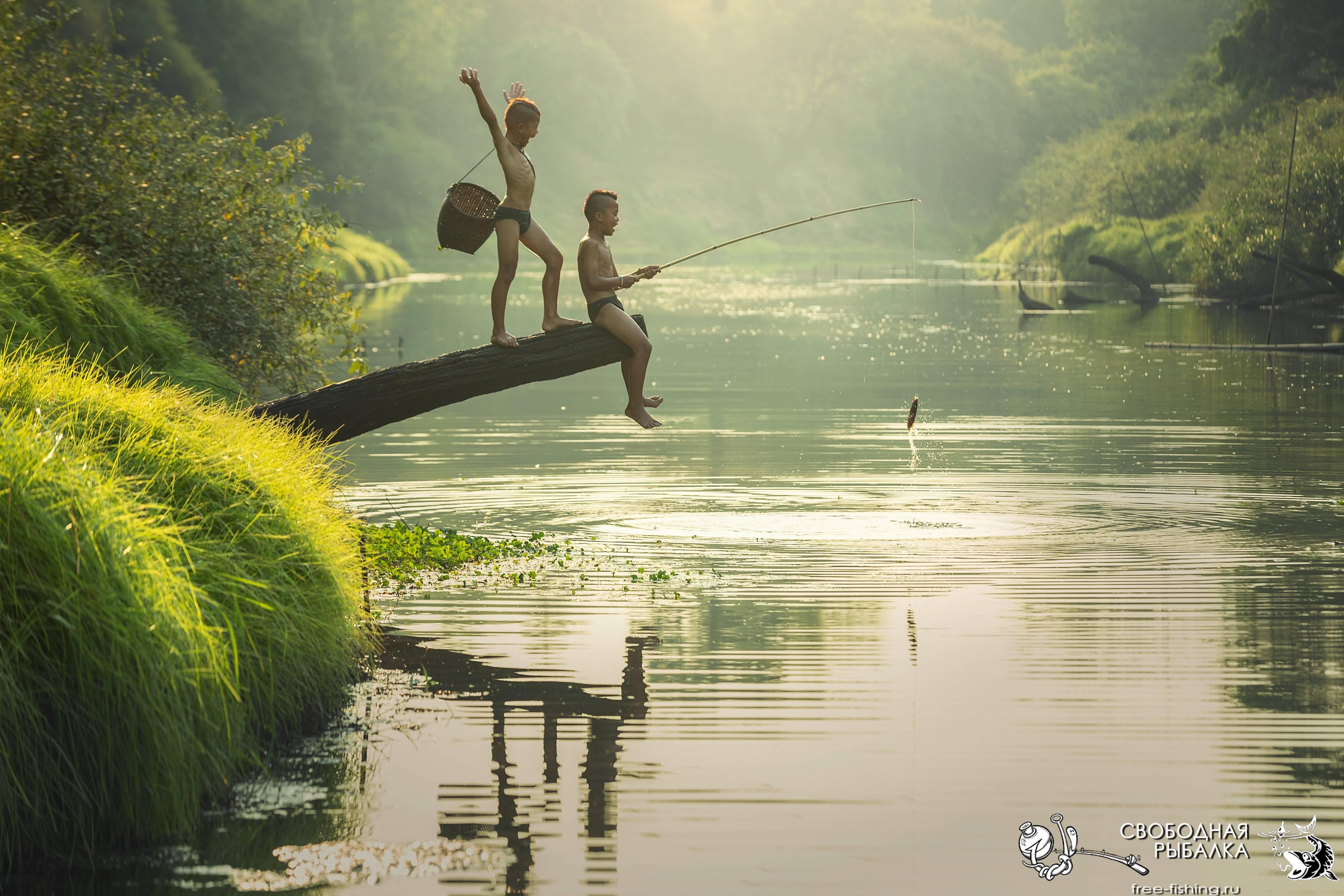 Рыбалка с удочкой
